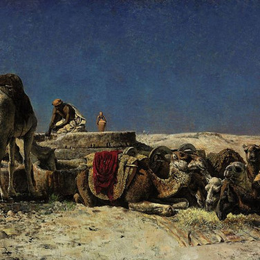 Camels Beside a Cistern