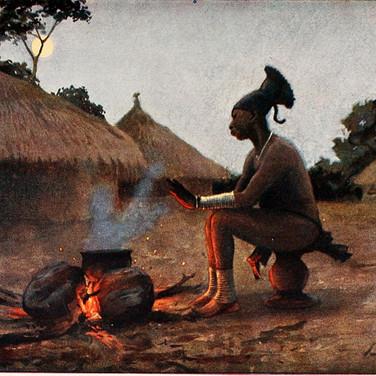 Mangbatur Woman by the Fire
