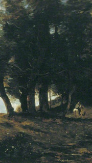 41. The Wood Gatherers by Jean Baptiste Camille Corot