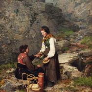 To Kvinner i Bunader fra Flesberg i Numedal