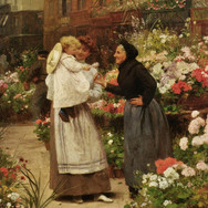 Offering a Flower to a Child