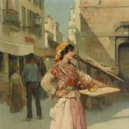Venezianische Verkauferin