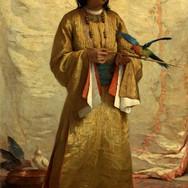 A Moorish Girl with Parakeet