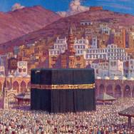 La Priere Autour du Temple Sacre de la Kaaba a Mekka