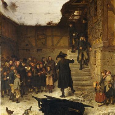 Hessian Funeral in Winter