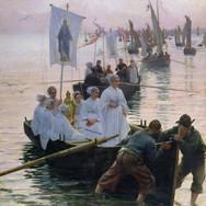 Arrivee du Pardon de Sainte Anne de Fouesnant a Concarneau