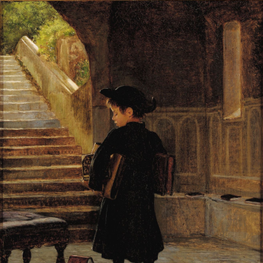 Small Abbate with Books Under His Arms