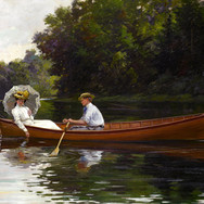 Rowing to Picnic Rock