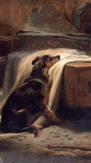 11. Highland Shepherd's Chief Mourner by Sir Edwin Landseer