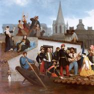 Napoleon III Visiting Flood Victims