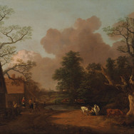 Landscape with Milkmaid