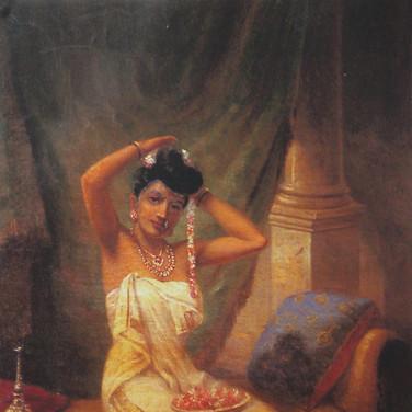 Nair Lady Adorning Her Hair