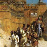 The Maharaj of Gwalior Before His Palace