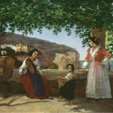 Italian Women on the Terrace