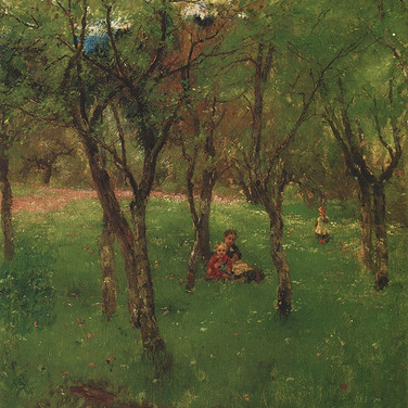 Children on the Orchard Meadow