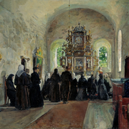 The Holy Communion Celebrated in Stange Church