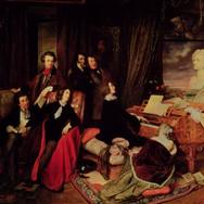 Franz Liszt Fantasizing at the Piano