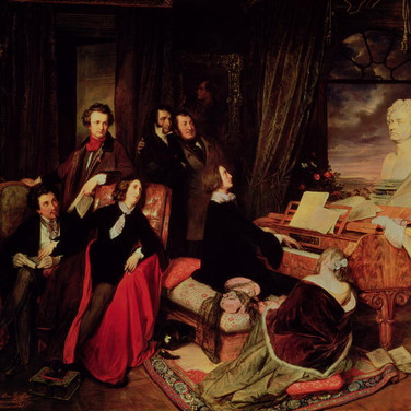 Franz Liszt Fantasizing at the Piano