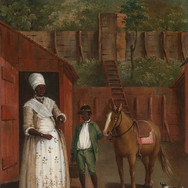 A Mother with Her Son and a Pony (Haiti)