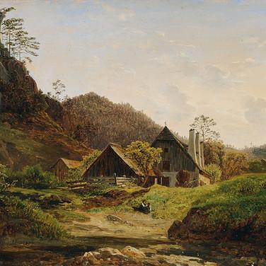 Landschaft mit Hammerschmiede
