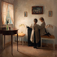 Interior with Two Girls