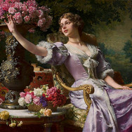 Lady in a Lilac Dress