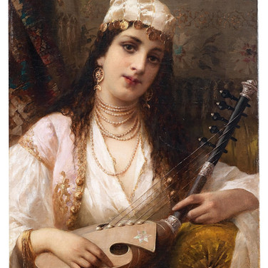 A Young Turkish Musician with a Kopuz