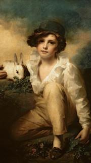 16. Boy and Rabbit by Sir Henry Raeburn