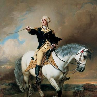 Washington Receiving a Salute