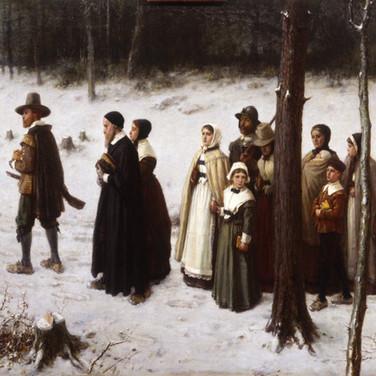 Pilgrims Going to Church
