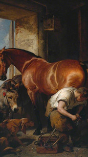 10. Shoeing the Bay Mare by Sir Edwin Landseer