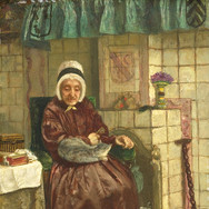 Old Woman by a Hearth