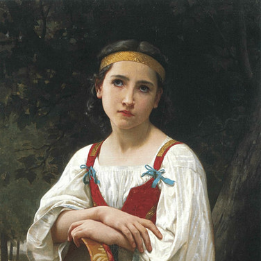 Gypsy Girl withe a Basque Drum