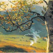 Baum im Herbst vor Wiesental