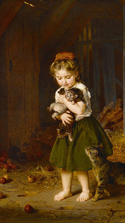 2. Young Kittens by Ludwig Knaus