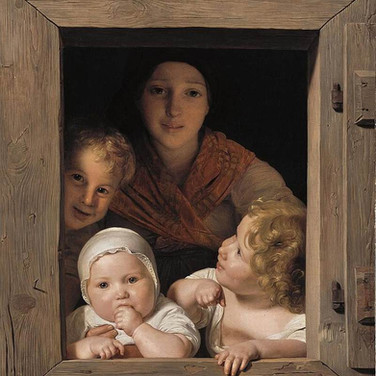 Young Peasant Woman with Three Children