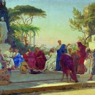 Horatius Reads Before Maecenas