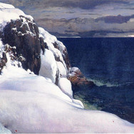Talvinen Merimaisema