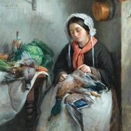 A Cook Plucking a Wild Duck