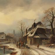 Winterliche Dorfansicht