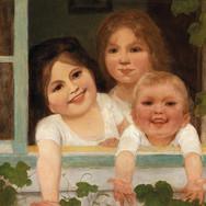 Three Children at the Window