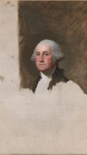 44. Portrait of George Washington by Gilbert Stuart