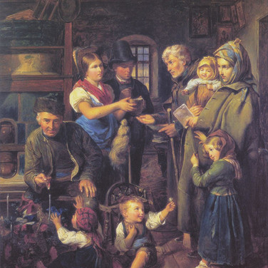 A Traveling Family of Beggars is Rewarded