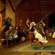 Albanian Bashi-Bazouks Performing the Sword Dance in Cairo