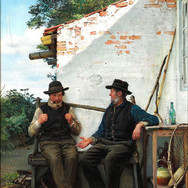 Two Old Men Sitting in the Shadow