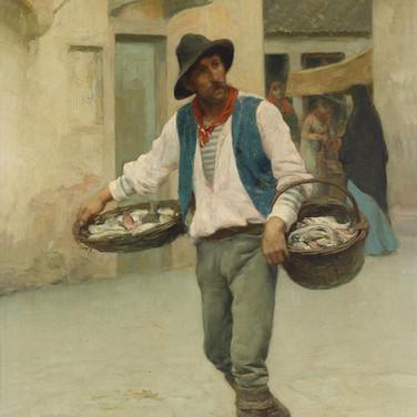 Venezianischer Fischverkaufer