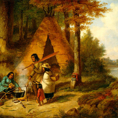 Famille Indienne Dans la Foret