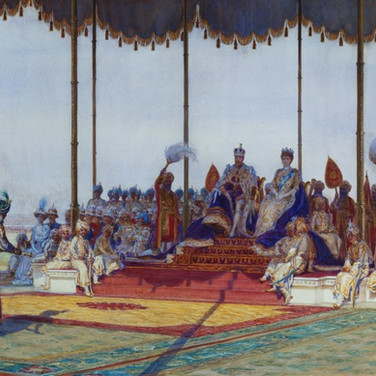 King George V and Queen Mary at the Delhi Durbar