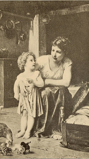 25. Two Mothers and Their Families by Elizabeth Gardner Bouguereau