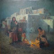 Taos Pueblo--Moonlight